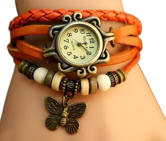 Orange Vintage Watch for Women