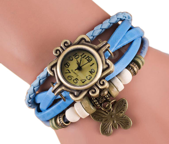 Light Blue Vintage Watch for Women