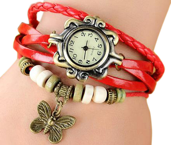 Red Vintage Watch for Women