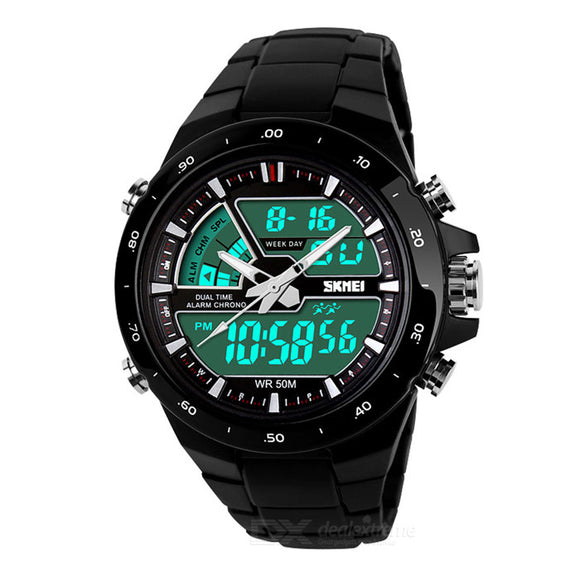 SKMEI Analog Digital Black Watch