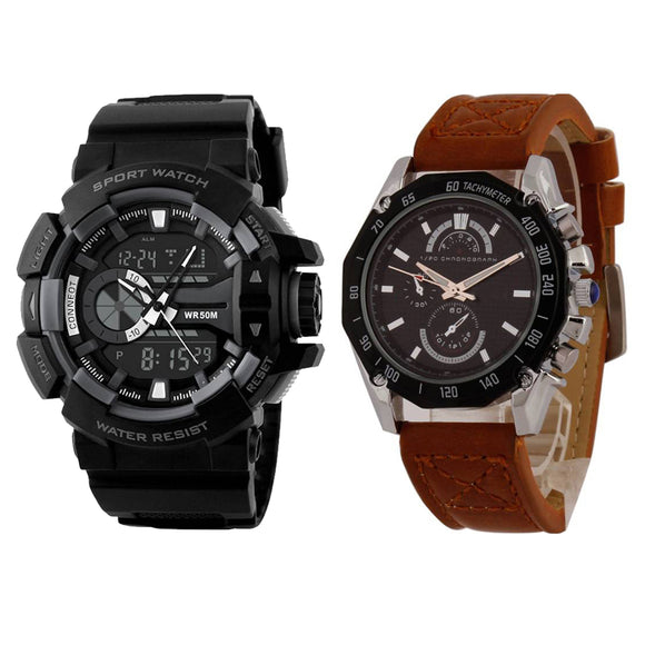 KEN Mens Sports Analog Digital  Watches