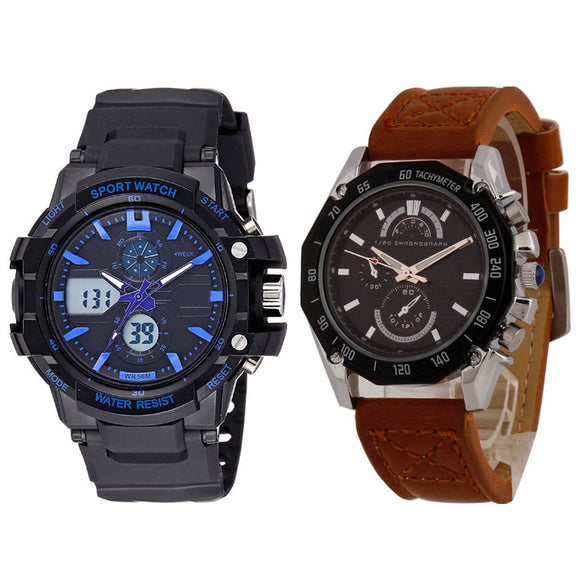KEN Mens Combo Brown and Blue Watches
