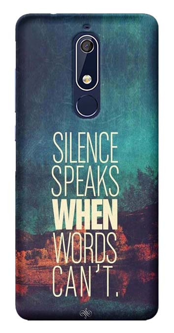 Quotes Collection Back Cover for Nokia 5.1 Plus