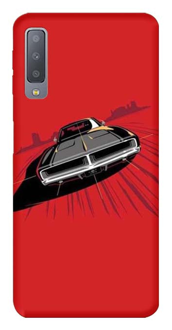 Bikes & Cars Collection Back Cover for Samsung Galaxy A7 2018
