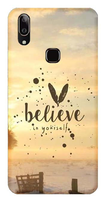 Quotes Collection Back Cover for Vivo Y91