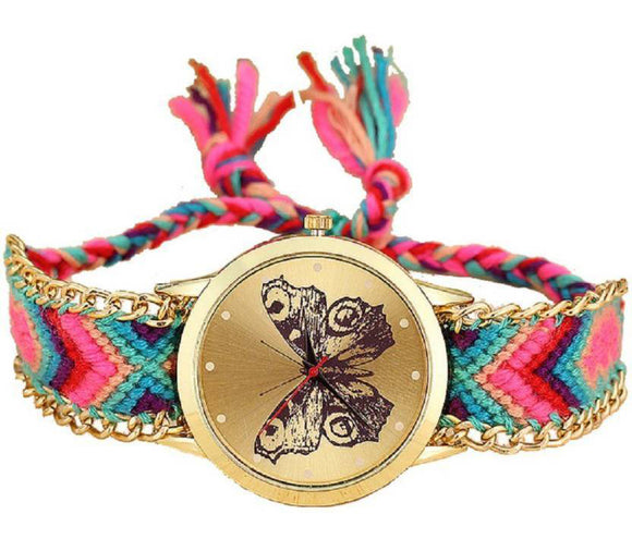 Colored Thread Vintage Watch For Women