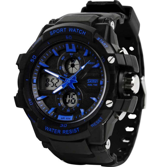 Styleken SKMEI Blue Sports Watch