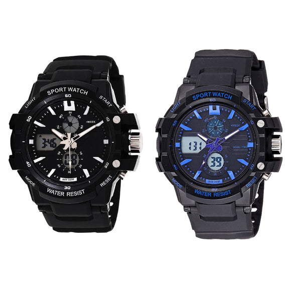 KEN Mens Analog Digital Combo Watches