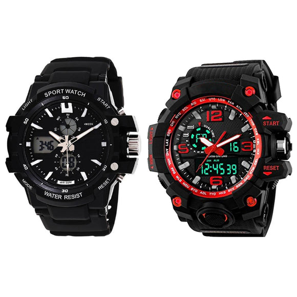 KEN Mens Combo Red and Black Watches