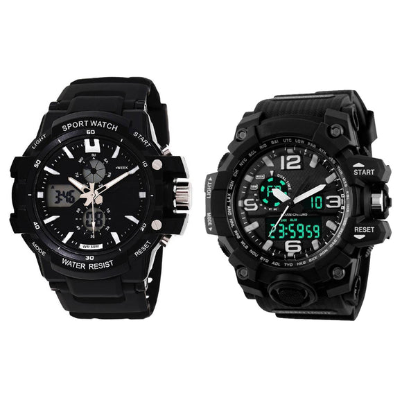 KEN Analog-Digital Mens Combo Watches