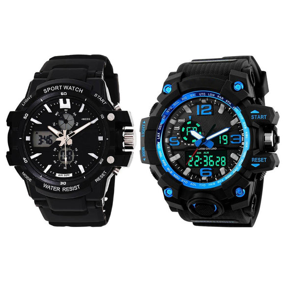 KEN Mens Combo Blue and Black Watches