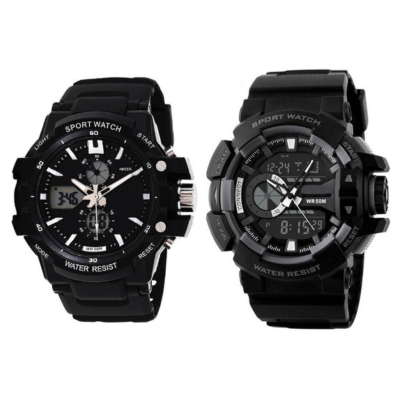 KEN Mens Combo Analog Digital Watches