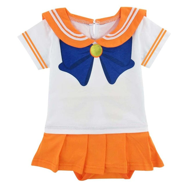 Body Sailor Venus Bébé Fille | Pyjama Sailor Vénus Enfant | Déguisement Sailor Vénus