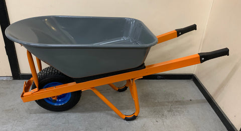 Tradesmans Wheelbarrow, Heavy Duty Fully Reinforced with Puncture Proof Wheel