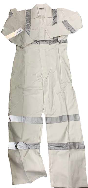 White Night Safety Overalls, Coveralls