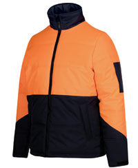 PUFFER Jacket, HI Vis, Workwear, Warm Waterproof Jacket