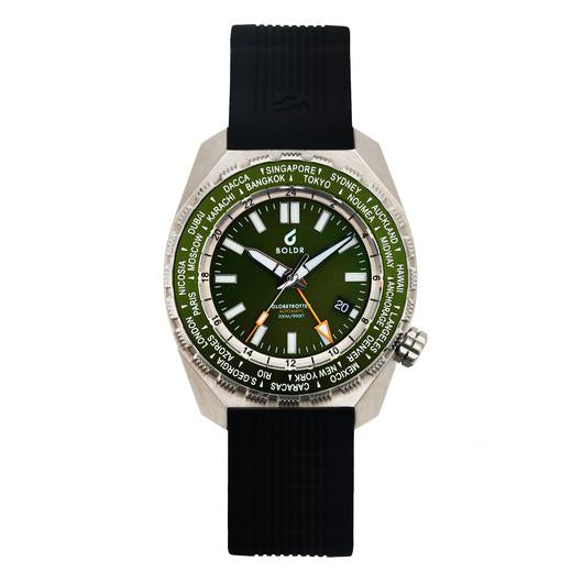 Boldr Globetrotter GMT World Timer (Emerald)
