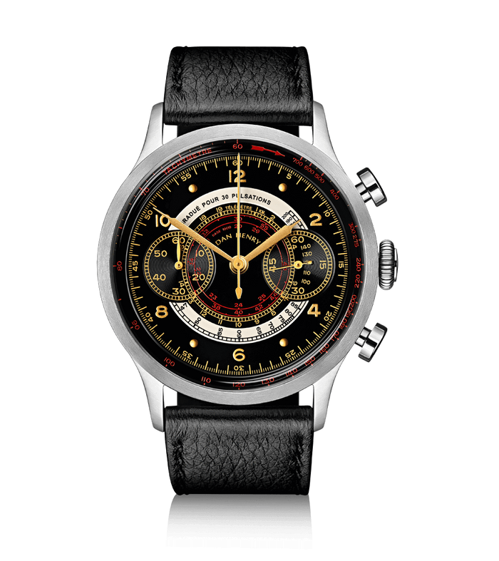 Dan Henry 1939 Military Chronograph Black