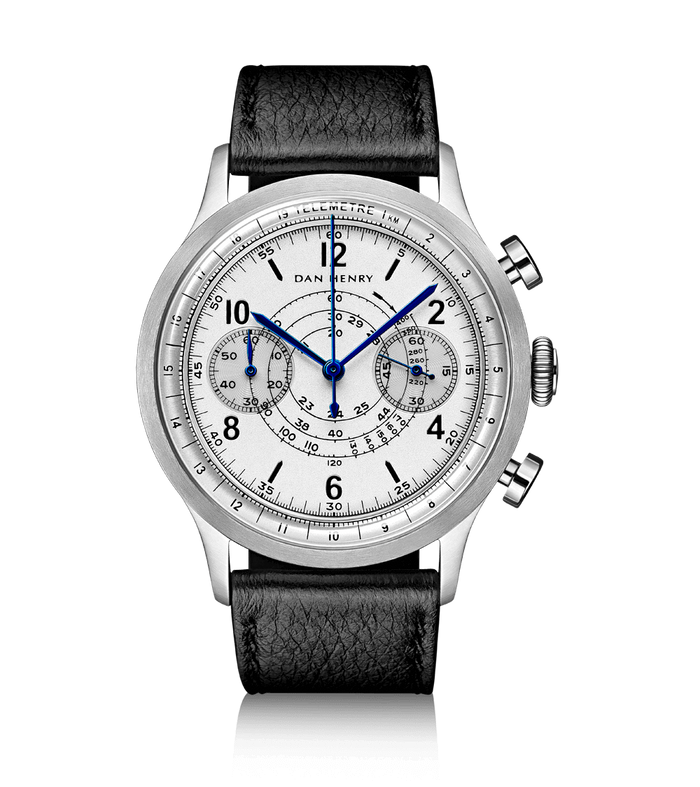 Dan Henry 1939 Military Chronograph Silver