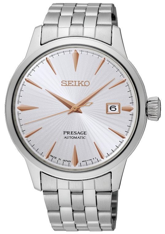 Seiko SRPB47J1 Presage Cocktail (Silver/Rose Gold)