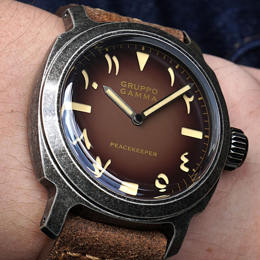 "Gruppo Gamma ""RTB"" Tobacco Brown - Watch Wonderland Exclusive Edition"