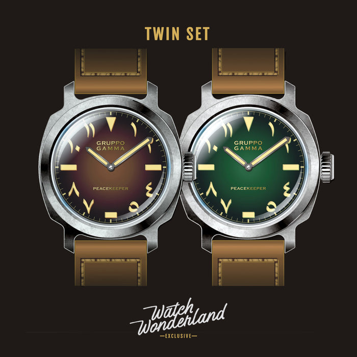 "Gruppo Gamma ""RTB"" Twin Set - Trench Green and Tobacco Brown"