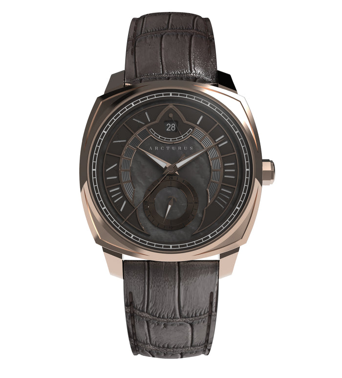 Arcturus Watches LC-1E (Rose Gold, Black Mother of Pearl)