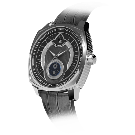 Arcturus Watches LC-1F (Steel, Black Mother of Pearl, Sun & Moon)