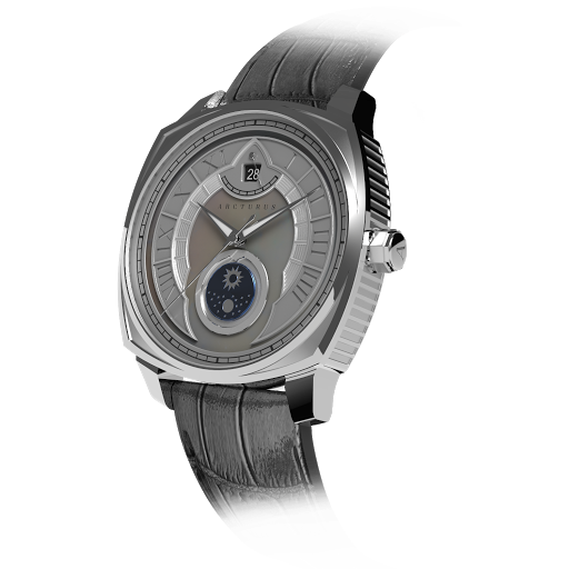 Arcturus Watches LC-1G (Steel, White Mother of Pearl, Sun & Moon)