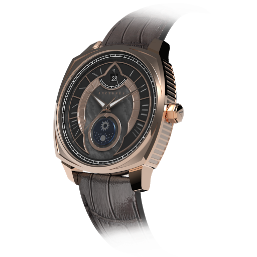 Arcturus Watches LC-1H (Rose Gold, Black Mother of Pearl, Sun & Moon)