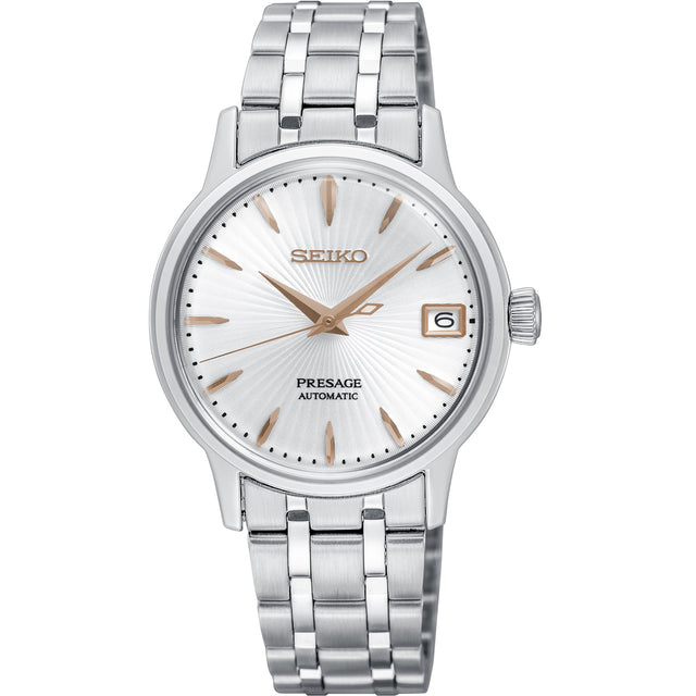 Seiko SRP855J1 Presage Ladies Cocktail (Silver/Rose Gold)