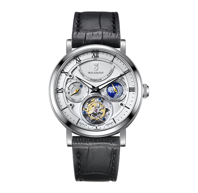 Waldhoff Ultramatic Tourbillon (Diamond Silver)
