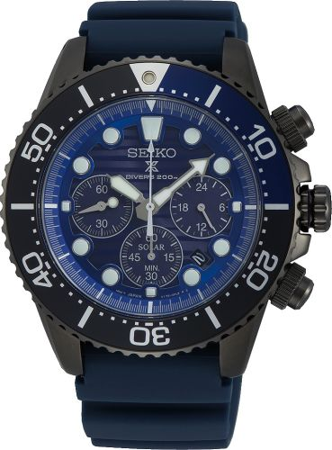 Seiko SSC701P1 'Save The Ocean' Black Solar Chronograph
