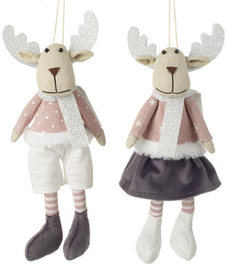 Fabric Deer Decorations