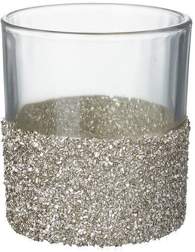 Crushed Gold Glitter T-light Holder