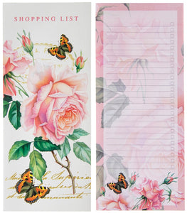 Pink Rose Shopping List Pages