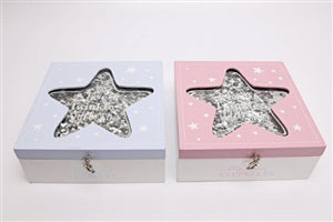 Baby Glitter Star Keepsake Box