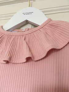 Pink Ribbed Bodysuit