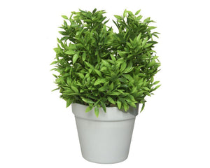Artificial Leaf Grass 27cm Potted Plant