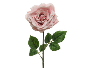 Artificial Large Pink Rose - 53cm