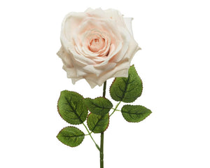 Artificial Large Light Peach Rose - 53cm