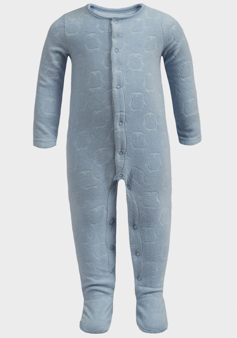Blue Owls Fleece Babygrow