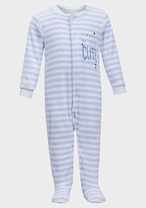 Blue Stripe Babygrow
