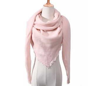 Triangle Plaid Scarf - Pink