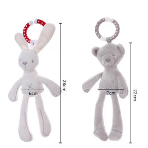 Cute Bunny Baby Rattle Toy