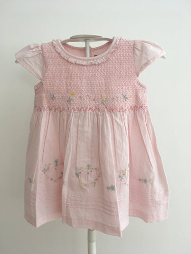 Rock a Bye Baby Embroidered Dress & Knickers - Pink