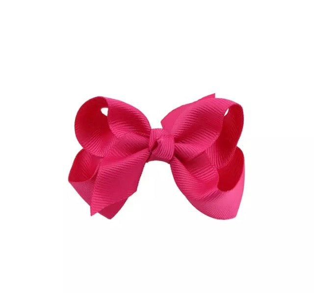 Dark Pink Hair Bow Clip