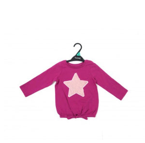Pink Fluffy Star Top