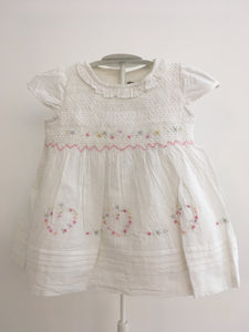 Rock a Bye Baby Embroidered Dress & Knickers - White