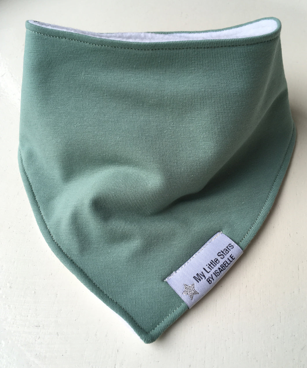 Sage Green Dribble Bib